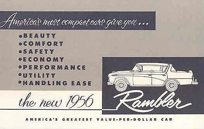 1956 AMC Rambler Features Salesman's Brochure wl2333-4CKOZC