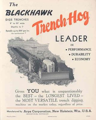 1951 Blackhawk Trench Hog for Ford Tractor Brochure wl3004-FTRQQI
