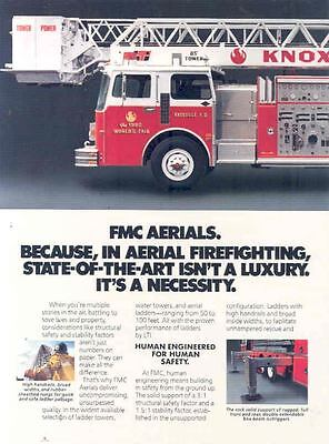 1982 FMC LTI Fire Truck Brochure Knoxville World's Fair wl4649-4G7XKX