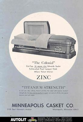 1966 Minneapolis Colonial Zinc Casket Ad wl8869-KXB5AN