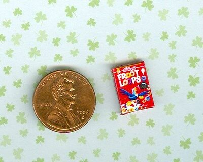 SMALLER 1/2 Half Inch Scale   Dollhouse Miniature  FRUIT CEREAL box