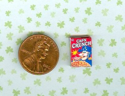 SMALLER  1/2 Half Inch Scale Dollhouse Miniature  CRUNCHY CEREAL box