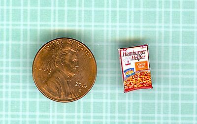 SMALLER  1/2 Half Inch Scale  Dollhouse Miniature  INSTANT DINNER Mix Box