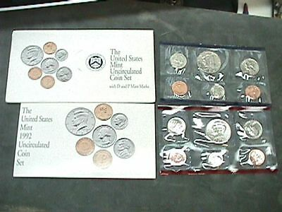 1992 U S Uncirculated Mint Set With D & P Mints 12 Coin