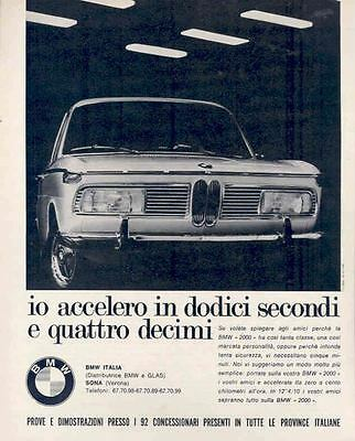 1967 BMW 2000 Ad Italy wk9014-GJQ1YT