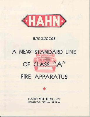 1950 Ford Hahn Fire Truck Sales Brochure wj2238-H6YR6B