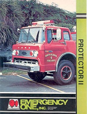 1977 Emergency One Fire Truck Brochure Collier Oldham  wj2339-VRNY3N