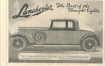 1930 Lanchester Coupe Ad  wj4863-MKZAPA