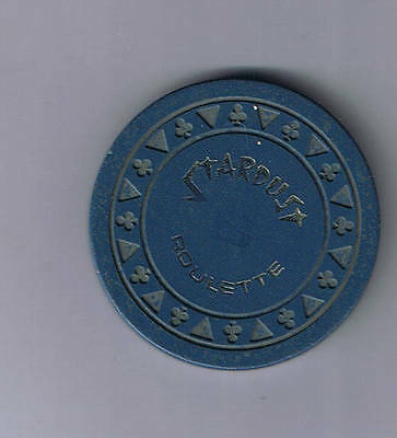 Stardust Casino Triclb Navy Blue B Roulette Chip Las Vegas Nevada