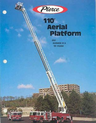 1986 Pierce 110 Aerial Fire Truck Brochure Forest Hills wj6486-EYT5B1