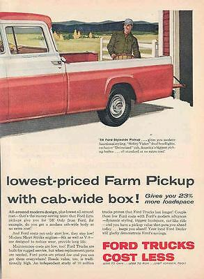 1958 Ford Pickup Truck Ad New Holland Hayliner  wj7025-WS4TY6
