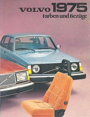 1975 Volvo Paint Colors & Interiors Brochure German wj9801-Q5JDYV