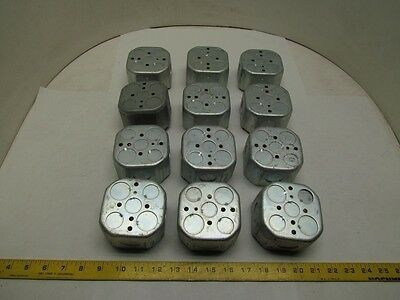 "Raco 4"" Octagon Box 2 1/8"" Deep 3/4"" Knockouts Lot of 12"