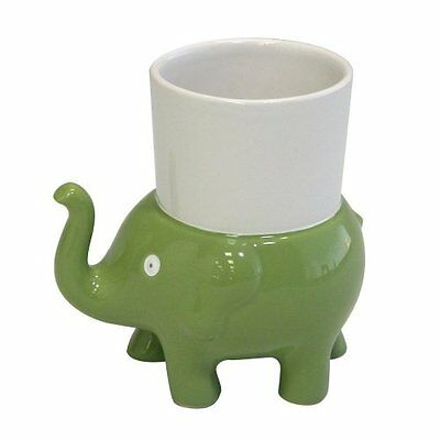 Animal Cracker Elephant Ceramic Tumbler With Holder