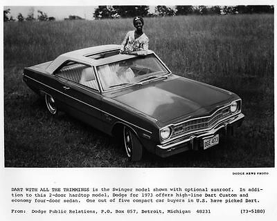 1973 Dodge Dart 2 Door Hardtop Automobile Photo Poster zad5976-GX87WG