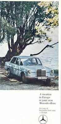 1966 1967 Mercedes Benz European Delivery Brochure  wi1689-RSEWGS