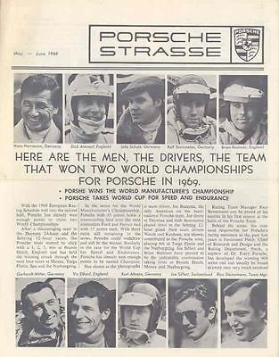 May June 1969 Porsche Strasse Brochure 911 Race Drivers wi3172-29KMX1