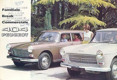 1966 Peugeot 404 Station Wagon Brake Brochure French wi3318-H1AGL1