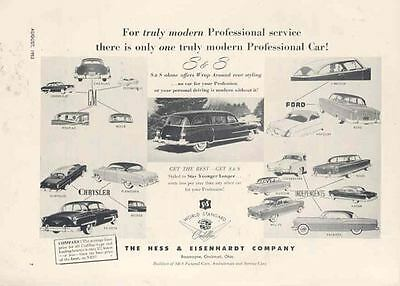 1953 Cadillac Chrysler Hudson Packard S&S Hearse Ad  wi8763-DWZTEX