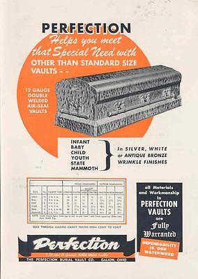 1953 Perfection Casket Vault Ad  wi8843-2EADK7