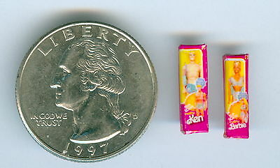 SMALLER  1/2 Half Inch Scale  Dollhouse Miniature  Barbie & Ken Doll Toy Boxes