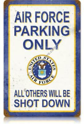 """""""Air Force Parking Only"""" Vintage Metal Sign - Made in the USA"""