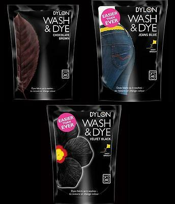 Dylon WASH & DYE Restores Fabric Cotton Material Linen Clothes Fashion or Salt