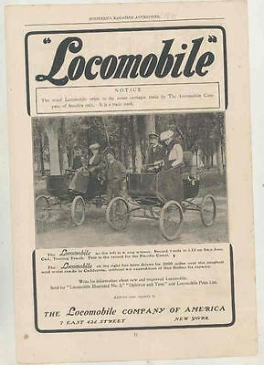 1901 Locomobile Steam Car Ad ws6608-SPRVXD