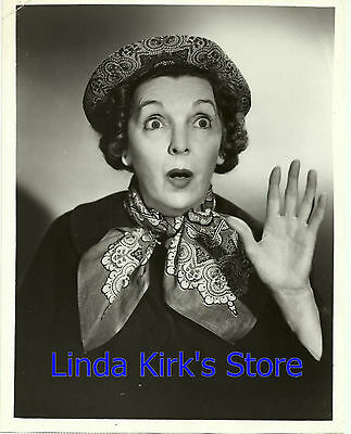 "Zasu Pitts Promotional Photograph ""The Gale Storm Show"" Head Shot ABC-TV B&W"
