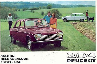1969 Peugeot 204 Saloon Station Wagon Brochure wh5878-4YV1VO