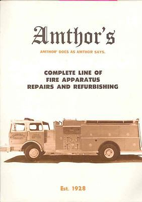 1981 Amthor Mack Ford International Fire Truck Brochure wh8497-54CY9B