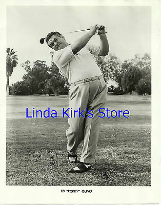 "Ed ""Porky"" Oliver Promotional Photograph Golfer B&W 1950's"