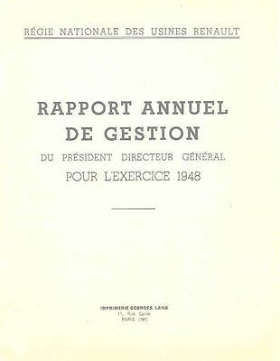 1948 Renault Factory Annual Report  wg4816-5LFUVW