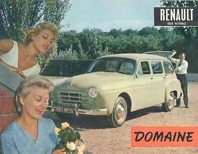 1957 Renault Domaine Station Wagon Brochure French wg8149-TCDSHY