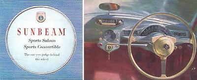 1955 Sunbeam Sports Saloon & Convertible Brochure wg9656-RPDMYK