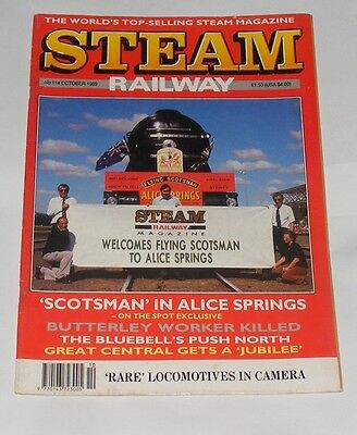 Steam Railway Magazine October 1989 - 'scotsman' In Alice Springs