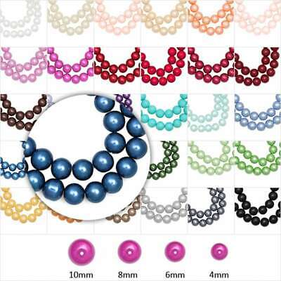 4/6/8/10mm DIY Round Plexiglass Pearl Spacer Loose Bead Fit necklace Bracelets
