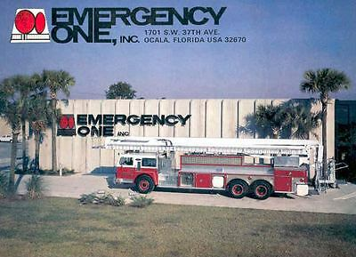 1979 Emergency One Fire Truck Brochure Poster wf1805-42CNW4