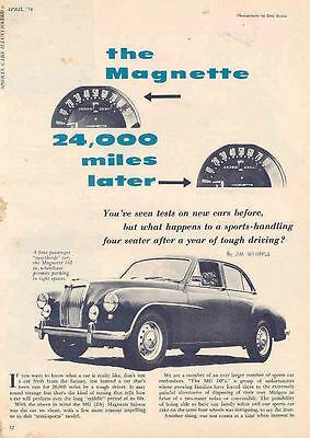 1956 MG Magnette Magazine Article wf3074-ZZ5WR1