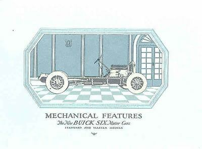 1925 Buick Standard Master Mechanical Features Brochure wf6773-S2W3ZB