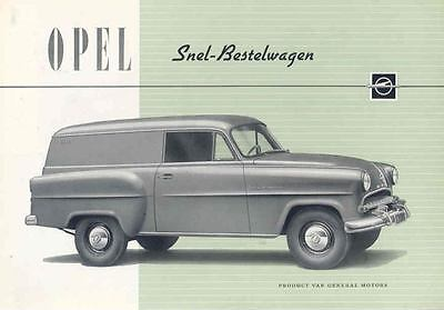 1955 Opel Olympia Sedan Delivery Brochure Dutch wf8421-PY2OXK