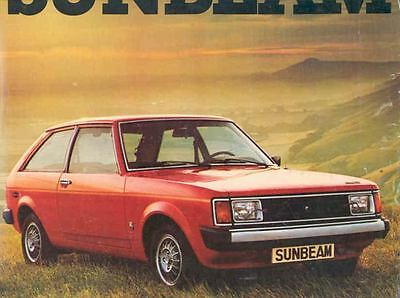 1978 Chrylser Sunbeam Sales Brochure French wd9308-9RM489