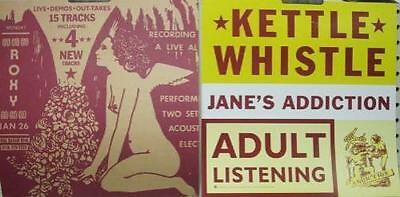 Janes Addiction 1997 Kettle Whistle 2 sided promo poster/flat New Old Stock