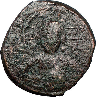 JESUS CHRIST Class A2 Anonymous Ancient 1028AD Byzantine Follis Coin   i27013