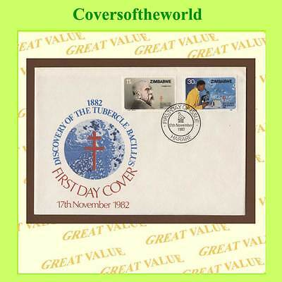 Zimbabwe 1982 Centenary of T.B. discovery set  First Day Cover, Harare