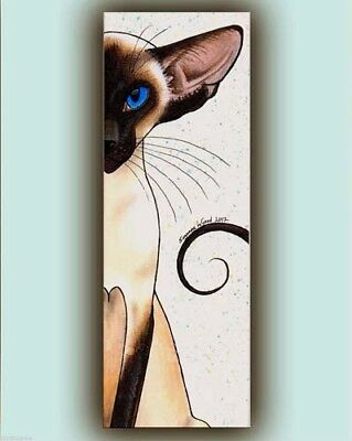 Large Limited Edition - The Look - Siamese Cat Painting Print By Suzanne Le Good