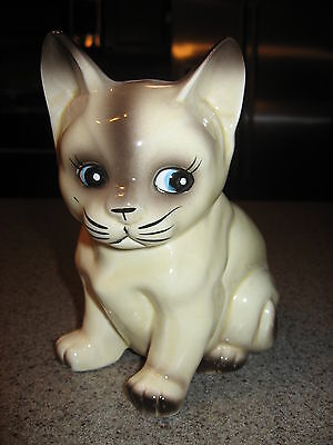MEOW! - Vintage, Japanese, Ceramic, Siamese, Cat Figure, Pre-Owned