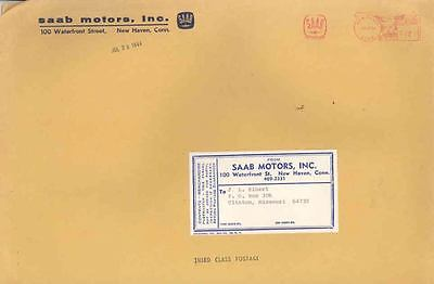 1964 Saab Brochure Large Mailing Empty Envelope wc3525-1FAKR4