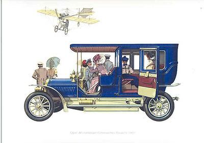 1907 Opel Limo Frameable Factory Historical Print wc4712-TPTAJB
