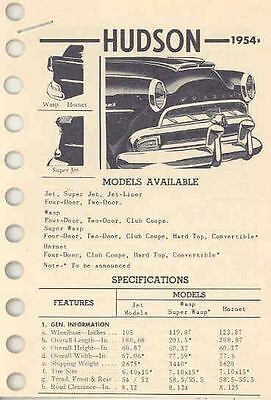 1954 Hudson Specification Sheets wc5837-GGSPIA